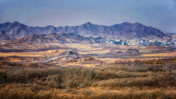 Photograph - Peek Into North Korea by Joan Carroll