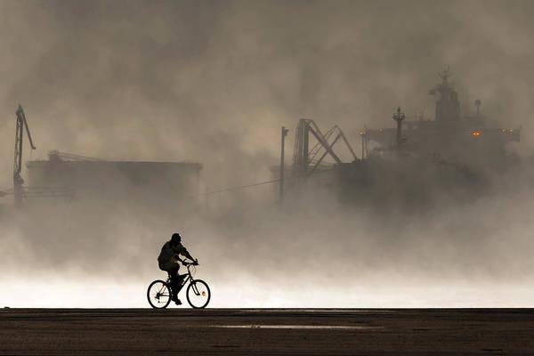 Harbor Photograph - Peak Oil by Michel Guyot