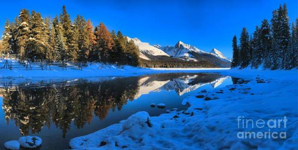Montain Photograph - Peaks Along Maligne by Adam Jewell