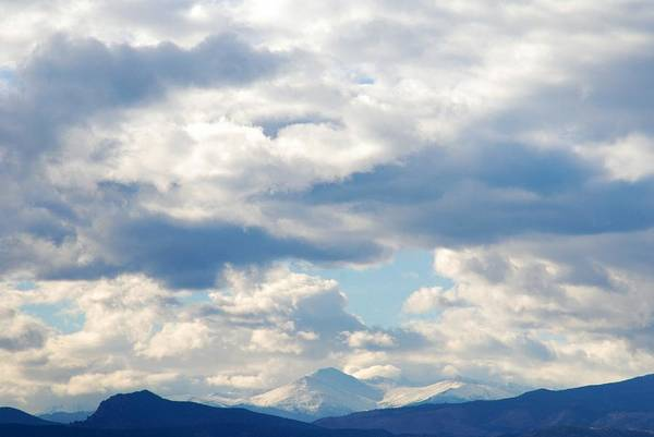 Photograph - Peaks Among The Clouds by Angie Tirado