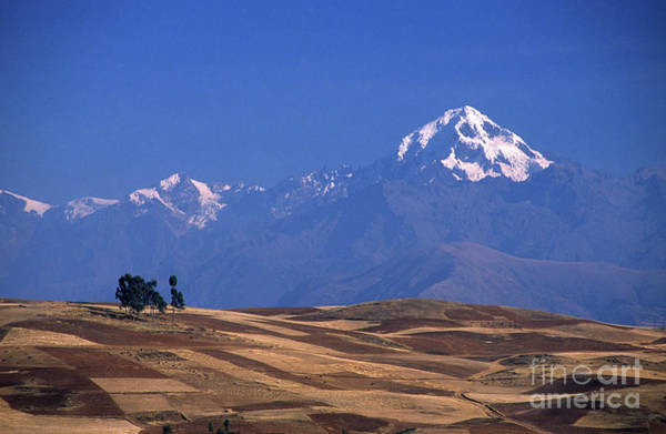 Photograph - Peaks And Fields Near Cusco Peru by James Brunker