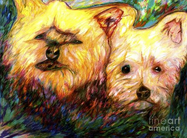 Drawing - Peanut And Jillie by Jon Kittleson
