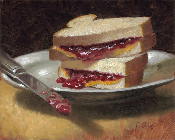 Wall Art - Painting - Peanut Butter Jelly Time by Timothy Jones