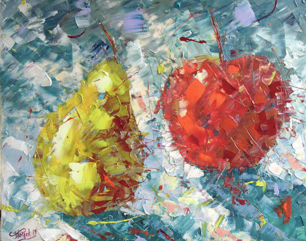 Painting - Pear And Apple by Frederic Payet