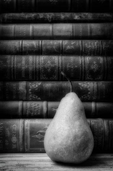 Wall Art - Photograph - Pear And Old Books by Garry Gay