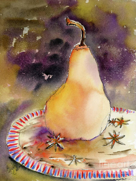 Painting - Pear In Star Anise Still Life by Ginette Callaway