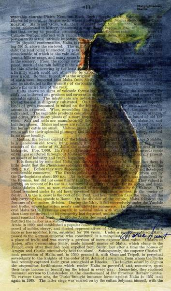 Wall Art - Painting - Pear In The Light by Maria Hunt