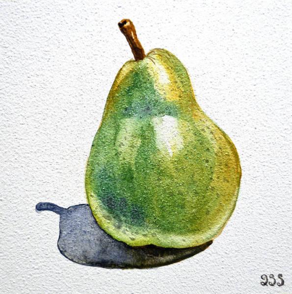 Fruit Painting - Pear by Irina Sztukowski