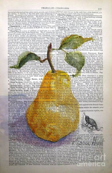 Wall Art - Painting - Pear On Antique Paper by Maria Hunt