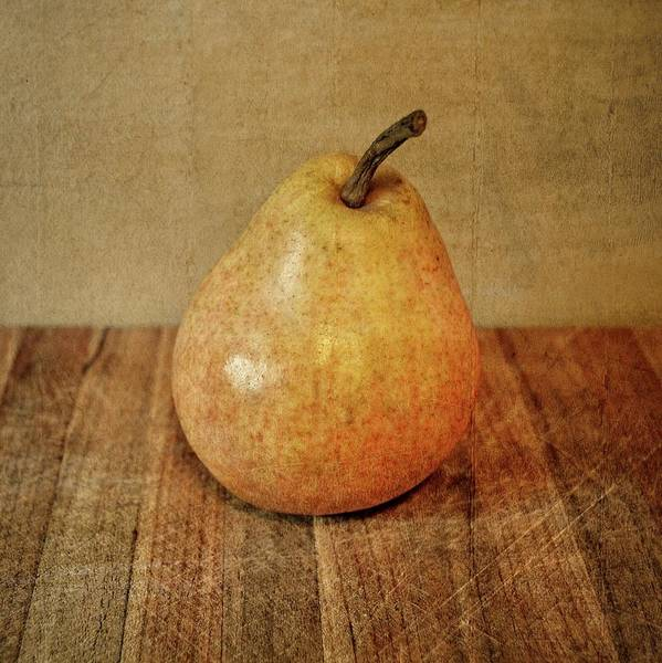 Photograph - Pear On Cutting Board 3.0 by Michelle Calkins