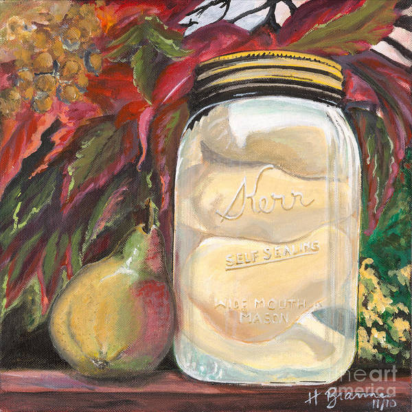 Holly Brannan Wall Art - Painting - Pear Preserves by Holly Bartlett Brannan