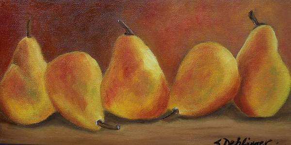 Painting - Pear Row by Susan Dehlinger