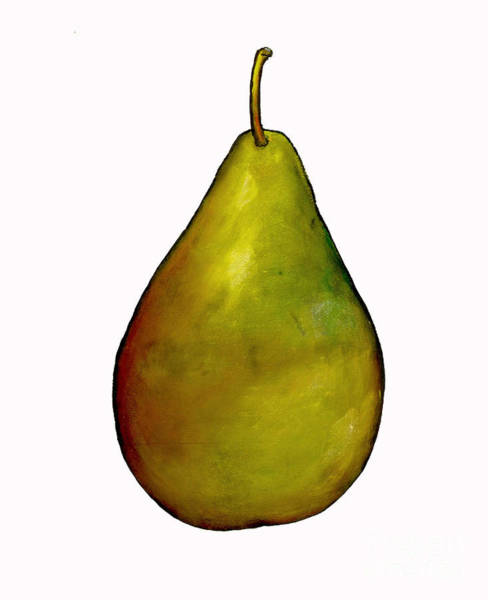 Wall Art - Painting - Pear by Sarah Thompson-Engels