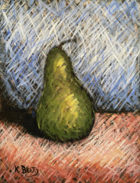 Scumble Wall Art - Painting - Pear Study 1 by Karla Beatty