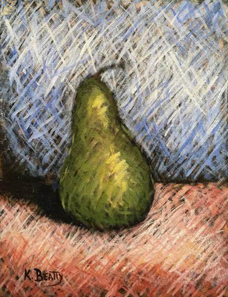 Wall Art - Painting - Pear Study 1 by Karla Beatty