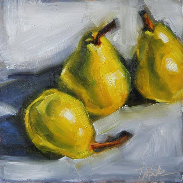 Painting - Pear Trio by Tracy Male