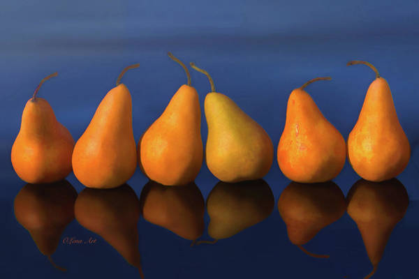 Digital Art - Pearfull Still Life by OLena Art - Lena Owens