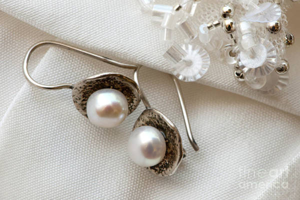 Photograph - Pearl Earrings by Rick Piper Photography