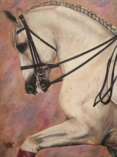 Andalusian Stallion Wall Art - Painting - Pearl Essence by Debra Reiber