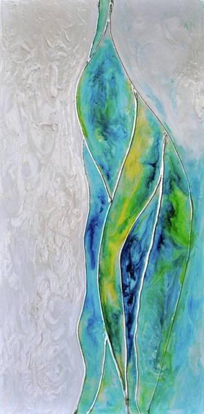 Wall Art - Painting - Pearl Falls by Debi Starr