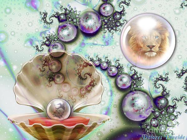 Hidden Treasures Digital Art - Pearl Of Great Price by Dolores Develde
