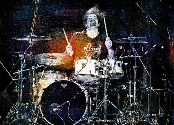 Photograph - Pearl Tshirt Drummer by Alice Gipson