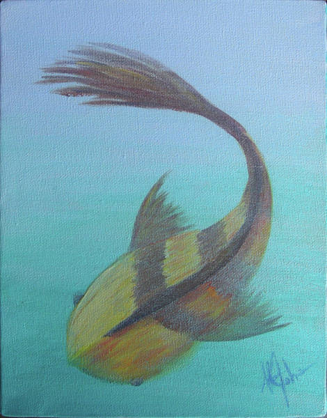 Painting - Pearly Fishy by Adam Johnson