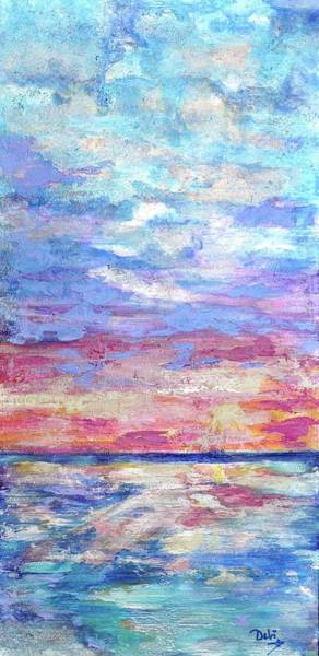 Wall Art - Painting - Pearly Sunset by Debi Starr