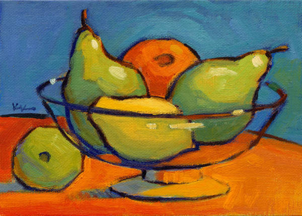 Painting - Pears And Friends by Konnie Kim