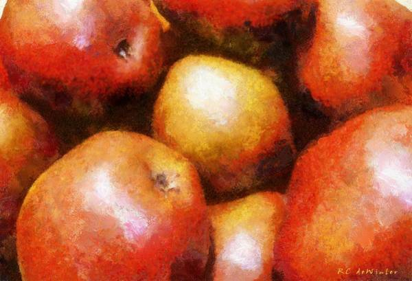 Painting - Pears D'anjou by RC DeWinter