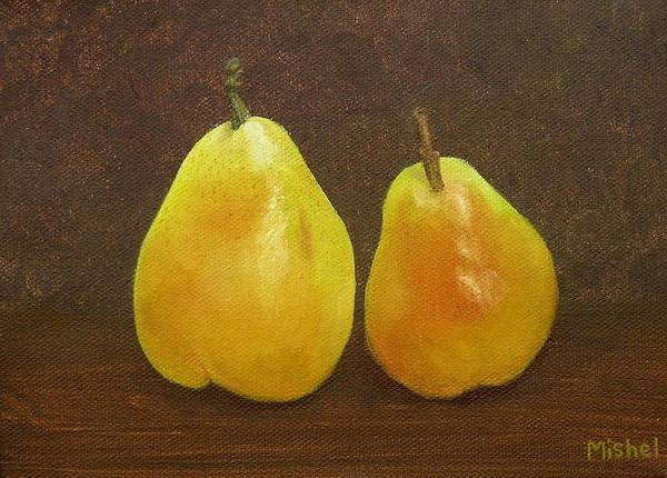 Painting - Pears by Mishel Vanderten
