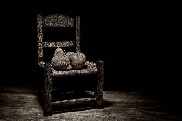 Rotten Wall Art - Photograph - Pears On A Chair II by Tom Mc Nemar