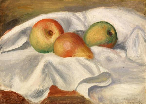 Apple Peel Wall Art - Painting - Pears by Pierre-Auguste Renoir