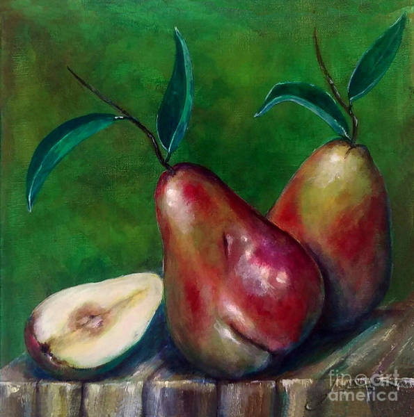 Painting - Pears Still Life by Thomas Lupari