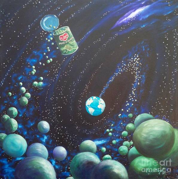 Painting - Blaa Kattproduksjoner       Peas On Earth by Sigrid Tune