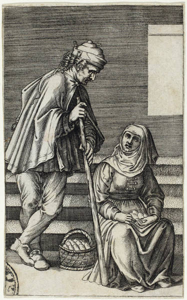Drawing - Peasant And Egg Woman by Agostino dei Musi