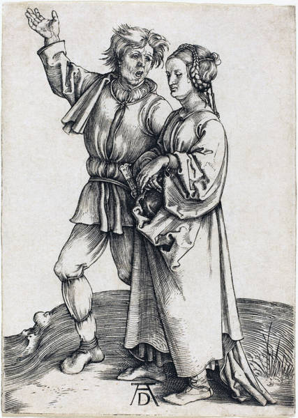 Drawing - Peasant And His Wife by Albrecht Durer