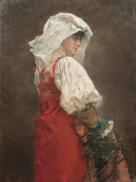 I Dream Painting - Peasant In Rome 1876 by Arcadi Mas I Fondevila