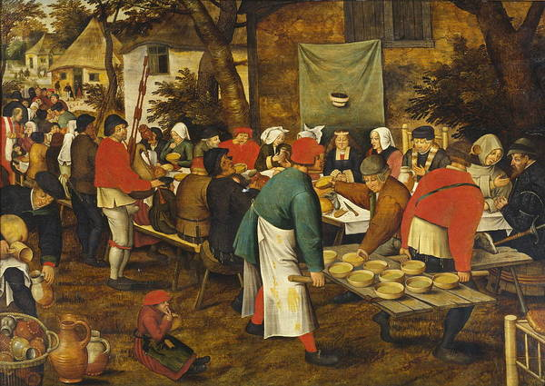 Lenin Painting - Peasant Wedding Feast  by Pieter Brueghel The Younger