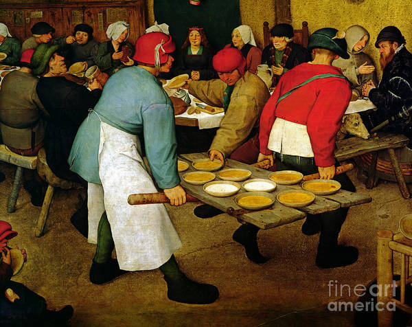 Apron Wall Art - Painting - Peasant Wedding by Pieter the Elder Bruegel