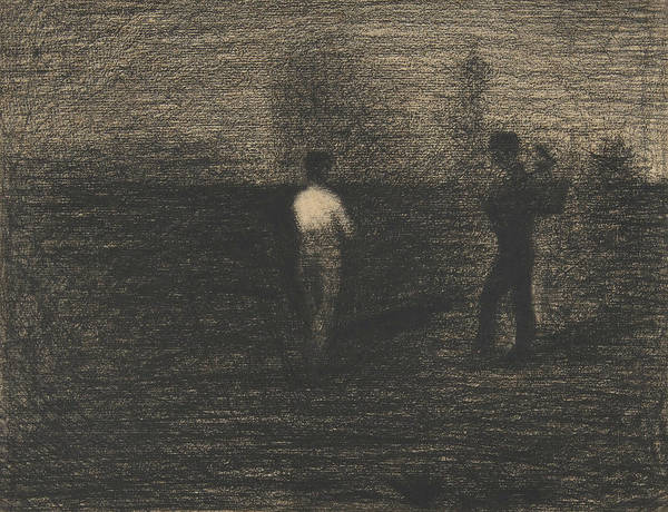 Drawing - Peasants by Georges-Pierre Seurat