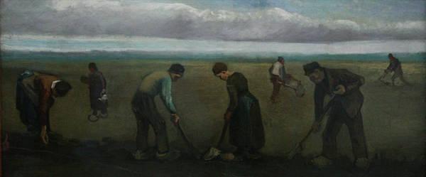 Painting - Peasants Planting Potatoes by Vincent van Gogh