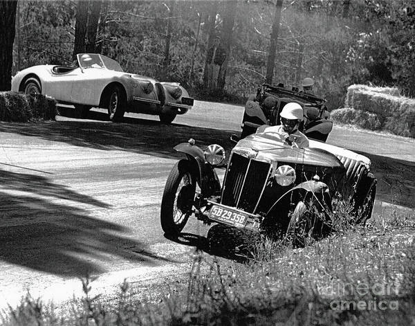 Photograph - Pebble Beach California Sports Car Races Auto Road Race April 11 by California Views Archives Mr Pat Hathaway Archives
