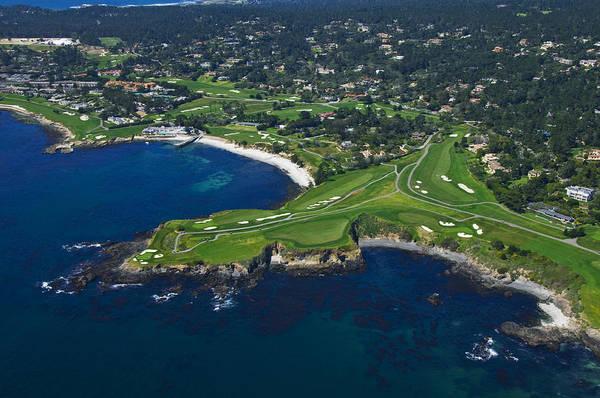 Pebble Beach Golf Course Photograph - Pebble Beach Golf Course by Susan Yates