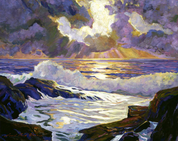 Painting - Pebble Beach Sunset by David Lloyd Glover