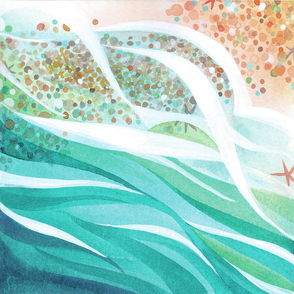 Beach Painting - Pebble Dance by Stephie Jones