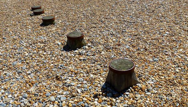 Pebbles And Wood Art Print