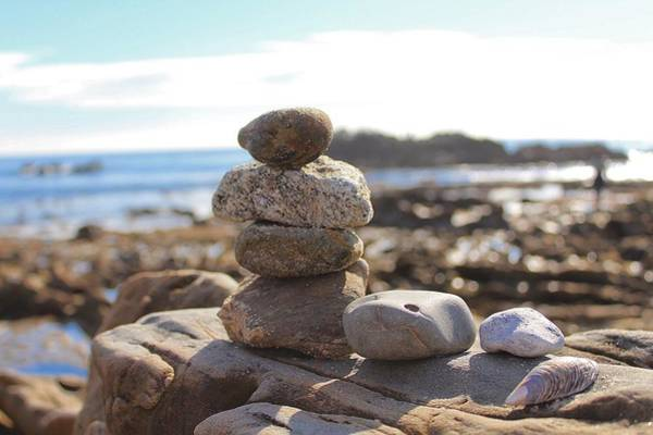 Photograph - Peceful Zen Rocks by Brian Eberly