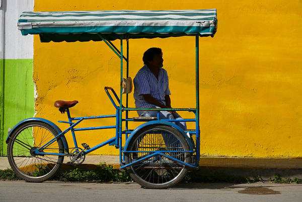 Photograph - Pedicab by Skip Hunt