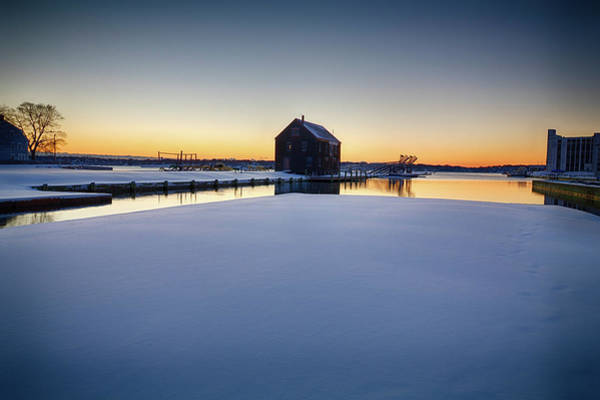 Photograph - Pedrick's Storehouse In Winter by Jeff Folger